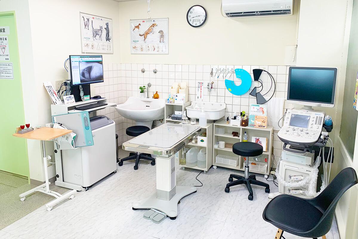 みやけ動物病院の診察室